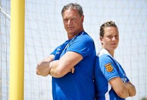 Gert en Stef sv HTC beachsoccer